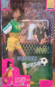 NEW* 1998 Barbie Soccer Teresa Doll, by Mattel