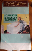 """New NOVELTY DISH TOWEL """" A CLEAN HOUSE IS A SIGN OF A WASTED LIF"""