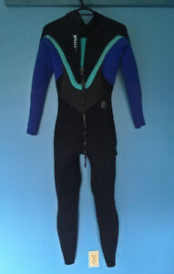 O'NEILL LADIES BAHIA 5/4 WETSUITS - BLACK DEEP SEA AQUA