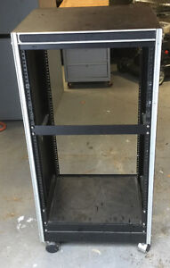 "Used small (36""H) stand alone (19""W), (17""D) rack"