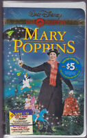 New/Sealed - MARY POPPINS Walt Disney's Gold Collection VHS Clam