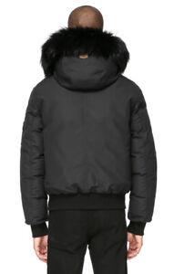 mackage men winter jacket coat black fur fulton Medium rudsak