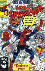 Web of Spider-Man (1st Series) #76 1991 VF Stock Image