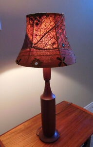 Mid Century Teak Genie Bottle Style Table Lamp Kitchener / Waterloo Kitchener Area image 3