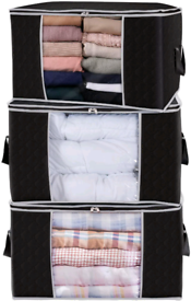 Lifewit Large Capacity Clothes Storage Bag Organizer with Reinforced H