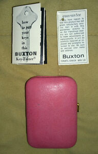 VINTAGE – BUXTON KEY-TAINER – DUSTY ROSE