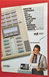 1989 NORSTAR MERIDIAN BUSINESS PHONE AD - ANONCE TELEPHONE 80S