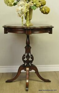 Antique Victorian Pedestal Occasional Table