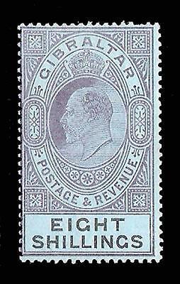 Gibraltar 1903 EDVII 8s dull purple & black/blue (SG 54) MVLH £160
