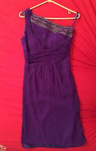 Robe courte violet