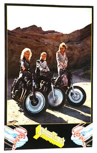 JUDAS PRIEST POSTER FROM 1986, VINTAGE AND RARE! HEAVY METAL