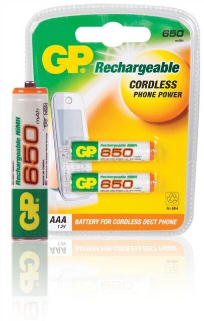 aaa battery rechargeable nimh gp batteries hr03 650 ma ebay. Black Bedroom Furniture Sets. Home Design Ideas