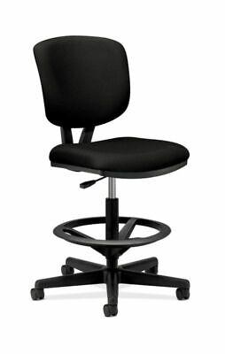 Hon Volt Task Stool Black Fabric - Fabric Black Seat - Fabric Black Plastic