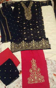 chiffon designer maria b  3pcs dresses