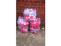 5 bags of elc pink and red ball pit balls