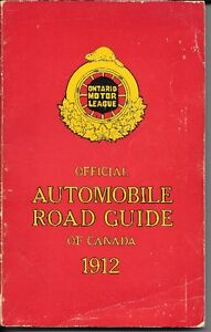 Automobile road guide 1912