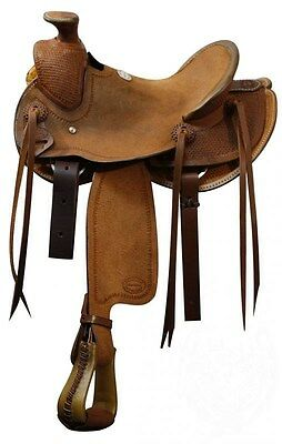 12 Inch Youth Western Ranch Saddle - Showman - Wade Hardseat , used for sale  Shipping to Canada
