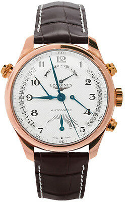 Longines Master Collection Chronograph Rose Gold Men's Watch L2.716.8.78.3
