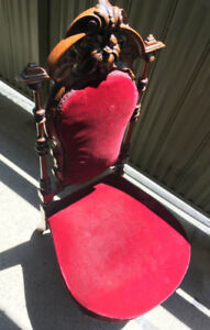 1800s ORIGINAL Antique Solid Wood CHAIR