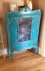 *Sold*Vintage cabinet painted and distressed by hand.