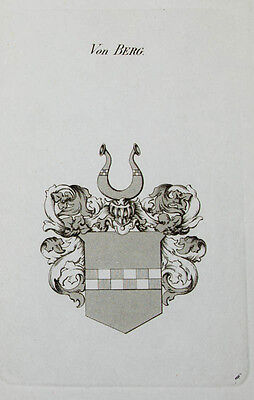 1867 Wappen von Berg Tyroff Kupferstich