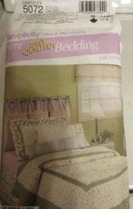 Simplicity 5072 Home Decorating, Bedding and Valance (7items)