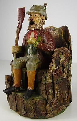 Antiker seltener Räuchermann Erzgebirge Jäger vor 1945