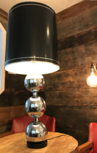 LAMPE EN CHROME RÉTRO VINTAGE MID CENTURY
