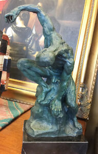 """Solid bronze statue called """"Man posing"""""""