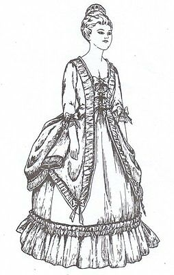 """UNCUT PATTERN outfit  16"""" Doll Period  Dress Ballentine victorian french German"""