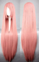 BRAND NEW Deluxe 100cm Super-Long Solid Pink Cosplay Wig