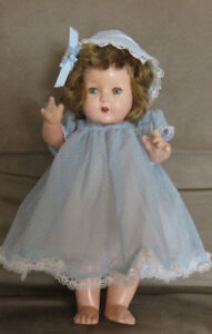 Vintage Doll Movable Limbs Head and Eyes! Fully Dressed Crazing