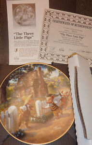 3 Fairytale-themed KNOWLES collector plates $ 15 EACH, $ 40 all