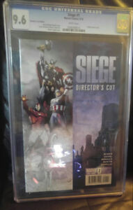 CGC GRADED COMIC siege # 1. Grade 9.6 directors cut