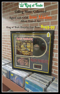IRON MAIDEN Signed LP Framed Art - King of Trade!