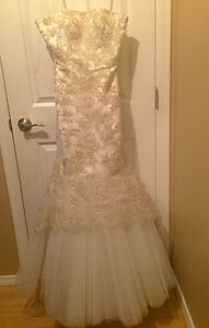 wedding dress-white with gold