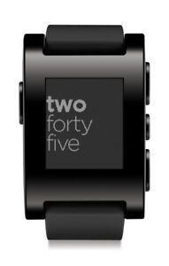 SOLD - NEW: Black Pebble Smartwatch for Android or iPhone