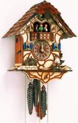 (New!) 30-Hour Musical Cuckoo Clock Wood Chopper Water Mill Wheel Schneider