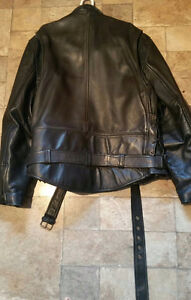 Classic leather motorcycle jacket Sarnia Sarnia Area image 2