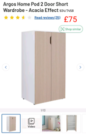 Pod 2 door short wardrobe only £75. RBW Clearance Outlet Leicester Cit