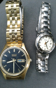 His and Hers Seiko watches