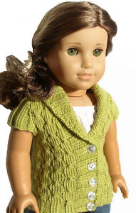Knitting-Pattern-Olive-Cardigan-Sweater-For-American-Girl-18-Inch-Doll