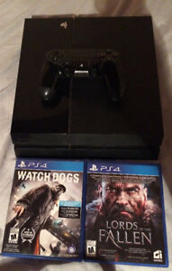 500gb PS4 and 2 games