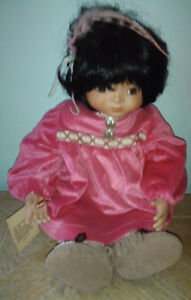 Handcrafted Native American Porcelain Doll