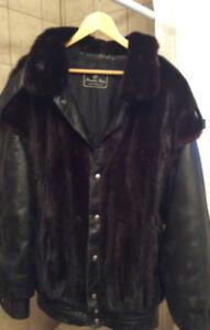 Manteau de fourrure pour homme