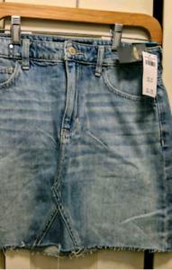 BNWT Hollister High Waist Jean Skirt