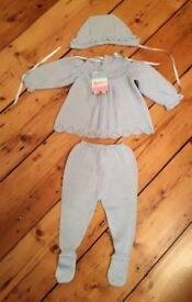 Beautiful, brand new, three piece baby suit aged 3 months