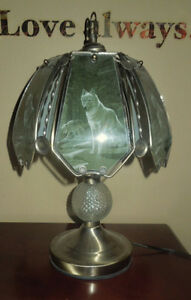 Wolf Glass Brass Touch Light