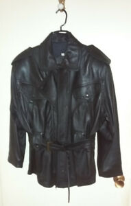 Woman's Faux Black Leather Jacket (Pleather) Great Condition