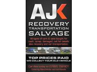 BEST CASH PRICES PAID FOR USED OR SCRAP CARS AND VANS